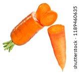 fresh organic carrot isolated... | Shutterstock . vector #1189460635