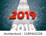 new 2019 year concept. 2019 new ... | Shutterstock . vector #1189462228