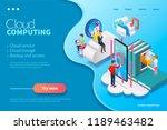 3d isometric cloud computing... | Shutterstock .eps vector #1189463482