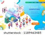 3d isometric cloud computing...   Shutterstock .eps vector #1189463485