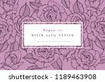 vintage card with rose flowers. ... | Shutterstock .eps vector #1189463908