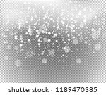 different snowflakes isolated... | Shutterstock .eps vector #1189470385
