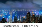 aerial view of hong kong... | Shutterstock . vector #1189474672