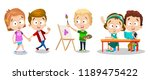 happy childhood and creative... | Shutterstock .eps vector #1189475422