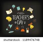 happy teachers day. vector...   Shutterstock .eps vector #1189476748