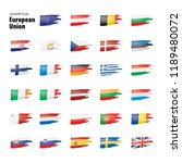 flags of the european union.... | Shutterstock .eps vector #1189480072