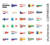 flags of the european union.... | Shutterstock .eps vector #1189480108
