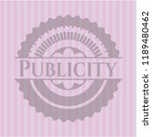 publicity retro style pink... | Shutterstock .eps vector #1189480462