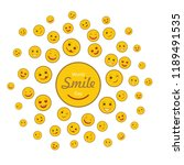 world smile day holiday concept ... | Shutterstock .eps vector #1189491535