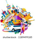 las vegas nevada | Shutterstock .eps vector #1189499185