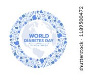 world diabetes day awareness... | Shutterstock .eps vector #1189500472