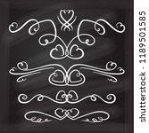 vector calligraphic flourishes...   Shutterstock .eps vector #1189501585