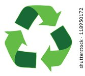 recycle logo   eps10  vector | Shutterstock .eps vector #118950172