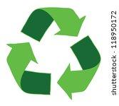 recycle logo   eps10  vector | Shutterstock .eps vector #118950172