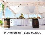 weddind tent catering. marquee... | Shutterstock . vector #1189502002