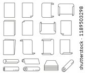 paper icon set in thin line... | Shutterstock .eps vector #1189503298