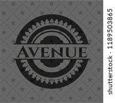 avenue retro style black emblem | Shutterstock .eps vector #1189503865
