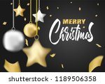 merry christmas. design with ... | Shutterstock .eps vector #1189506358