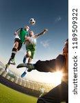 children soccer player in... | Shutterstock . vector #1189509322