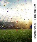 stadium day confetti and tinsel ... | Shutterstock . vector #1189509325