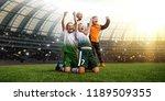 winning football player... | Shutterstock . vector #1189509355