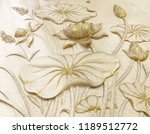 low relief cement thai style... | Shutterstock . vector #1189512772