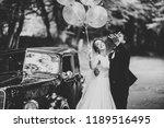 stylish wedding couple  bride ...   Shutterstock . vector #1189516495