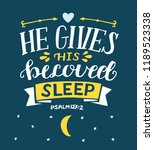 hand lettering he gives his... | Shutterstock .eps vector #1189523338