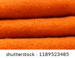 stack of trend russet orange... | Shutterstock . vector #1189523485