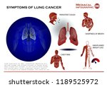 lung cancer infographic... | Shutterstock .eps vector #1189525972