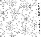 flower seamless pattern with... | Shutterstock .eps vector #1189530592