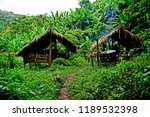 traditional hut  campsite in... | Shutterstock . vector #1189532398