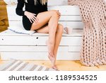 profile of a perfect woman legs ... | Shutterstock . vector #1189534525