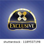 gold emblem with crossed... | Shutterstock .eps vector #1189537198