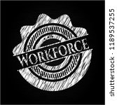 workforce written on a... | Shutterstock .eps vector #1189537255