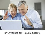 senior couple connected with... | Shutterstock . vector #118953898