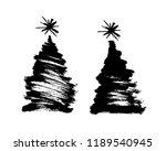 Brush Drawing Of A Christmas...