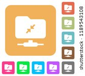 ftp compression flat icons on...   Shutterstock .eps vector #1189543108