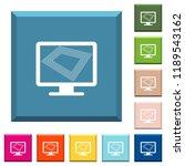 screen saver on monitor white... | Shutterstock .eps vector #1189543162