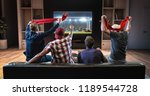 group of fans are watching a... | Shutterstock . vector #1189544728