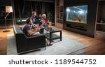 group of fans are watching a... | Shutterstock . vector #1189544752