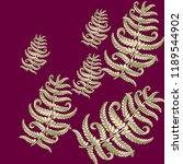 fern frond herbs  tropical... | Shutterstock .eps vector #1189544902