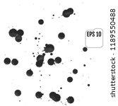 set of gray blots on the white... | Shutterstock .eps vector #1189550488