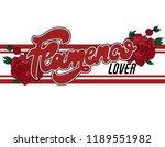 flamenco lover. vector...   Shutterstock .eps vector #1189551982