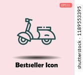 modern scooter outline icon use ... | Shutterstock .eps vector #1189553395