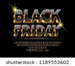 vector bright sign black friday.... | Shutterstock .eps vector #1189553602