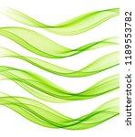 set of abstract vector flow... | Shutterstock .eps vector #1189553782