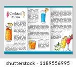 cocktail discount voucher for... | Shutterstock .eps vector #1189556995