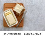 butter or spread is in white... | Shutterstock . vector #1189567825