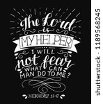 hand lettering the lord is my... | Shutterstock .eps vector #1189568245